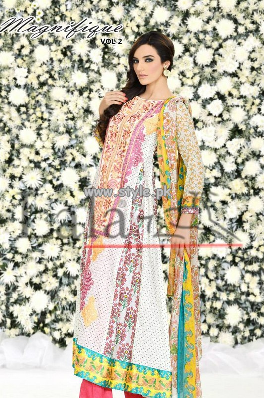 Magnifique by Lala Textiles Lawn Collection 2013 Volume 2 001