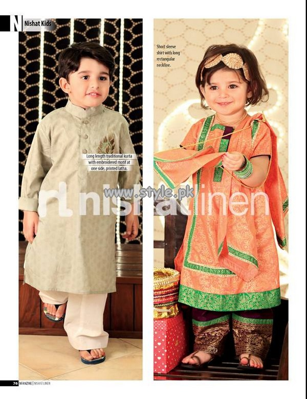 Nishat Linen Eid Collection 2013 For Kids