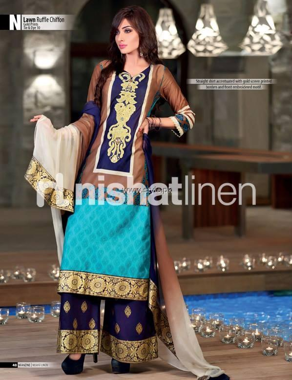 Nishat Linen Eid Collection 2013 for Women 001 pakistani dresses fashion brands