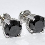 Black-diamond-earrings-studs