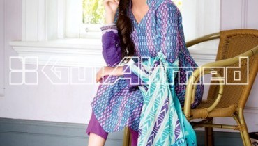 Gul Ahmed Embroidered Lawn Eid Collection 2013 For Women 001
