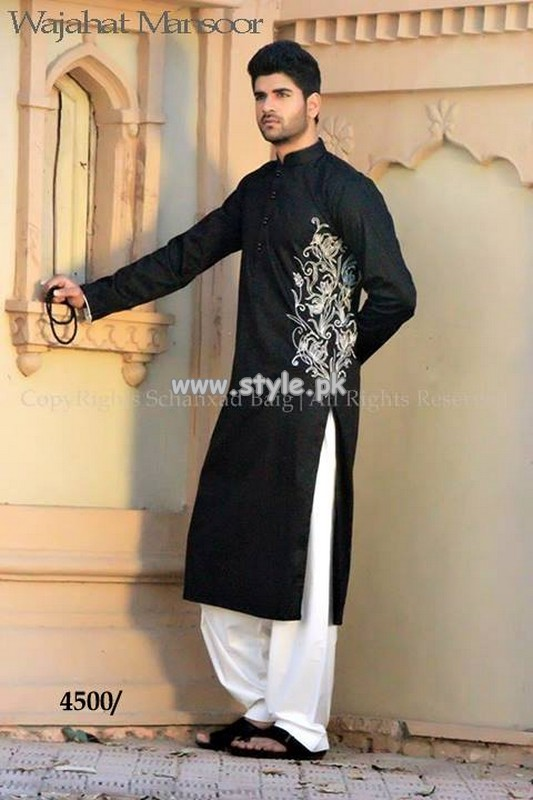 9a1f1c7753 Wajahat Mansoor Kurta Shalwar Collection For Men 2013