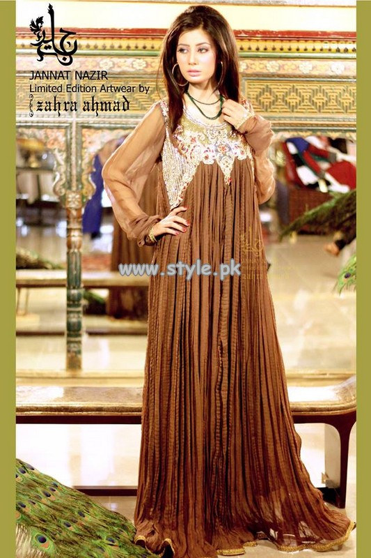 Jannat Nazir Formal Wear Collection 2013 For Girls 001