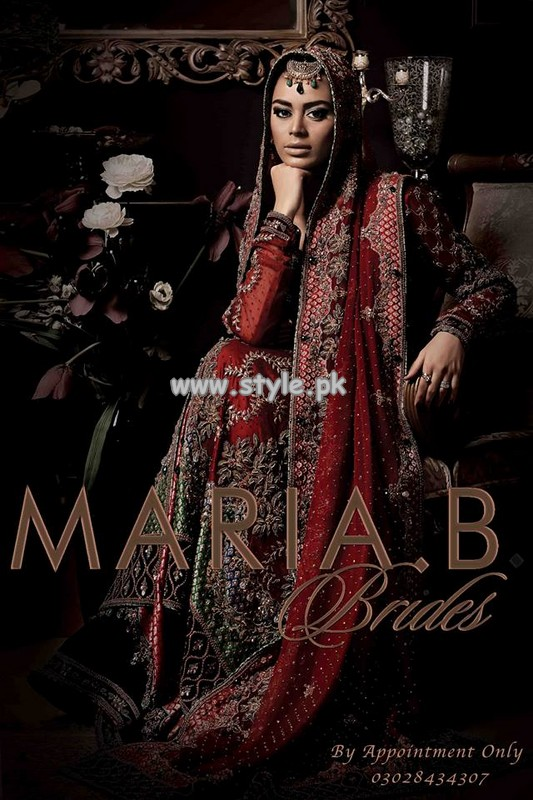 Maria B Bridal Dresses 2013 For Wedding 001 pakistani dresses designer dresses bridal dresses