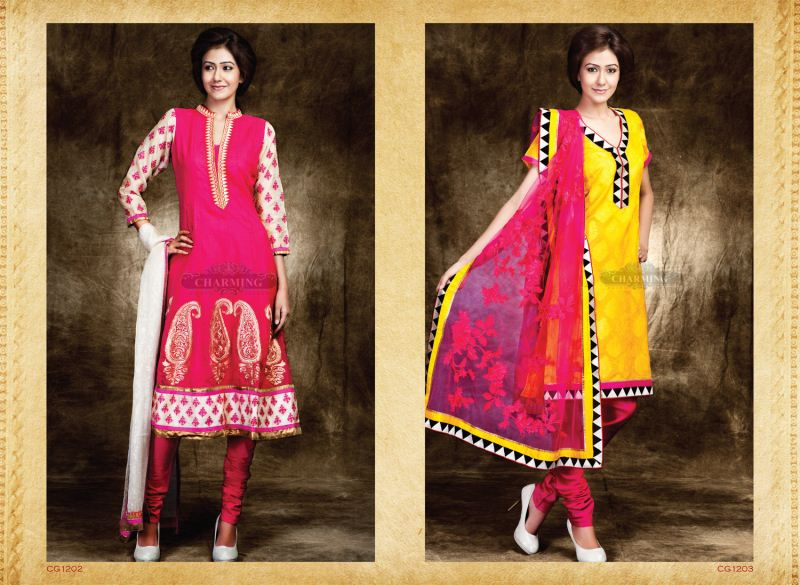 Charming Designer Suits 2013 Embroidered Dresses 002