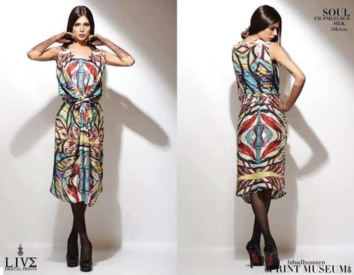 Fahad Hussayn Latest Digital Prints Collection 2013