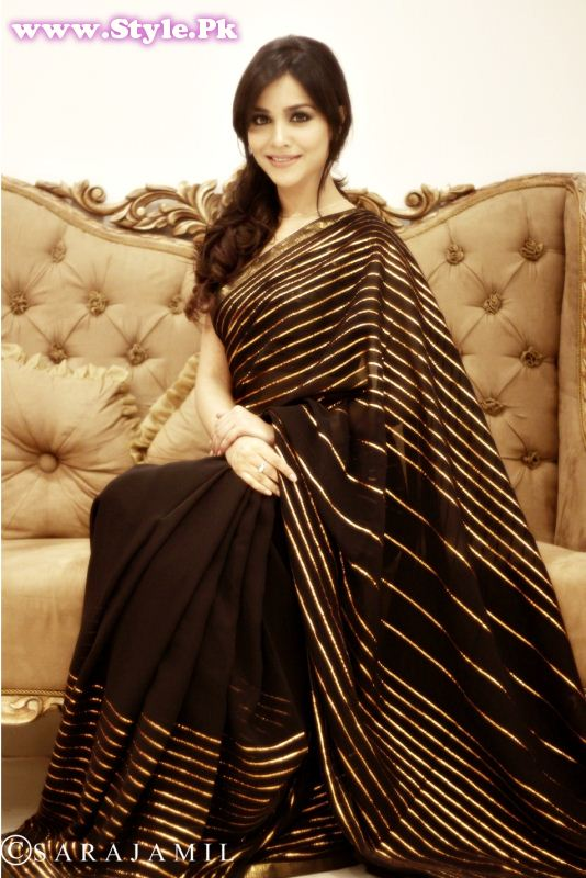Humaima Malik Wearing Saree