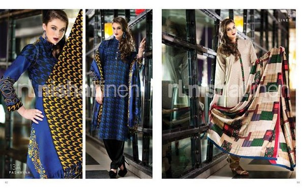 Nishat Linen winter collection 2013 for Women 001 pakistani dresses
