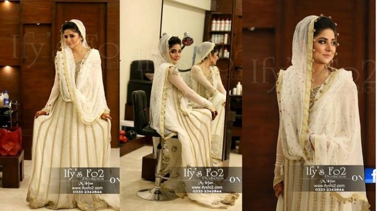 Actres Sanam Baloch Nikkah Pictures - White Dress 010 800x457