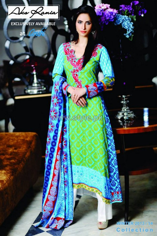 Aroshi Winter Dresses 2013 For Girls3 pakistani dresses