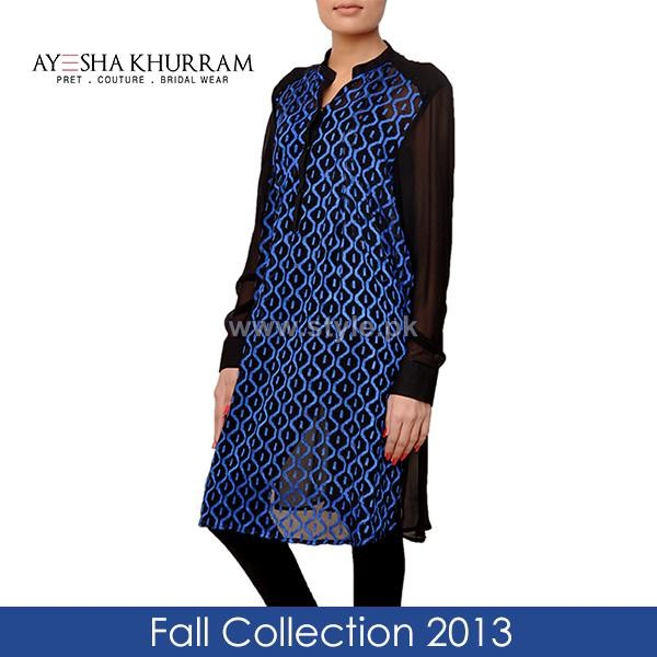 Ayesha Khurram Fall Dress Designs 2013 For Girls3