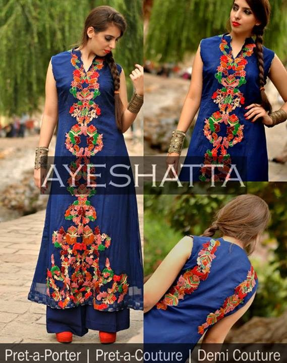 Ayeshatta Party Dresses 2013 For Women 010