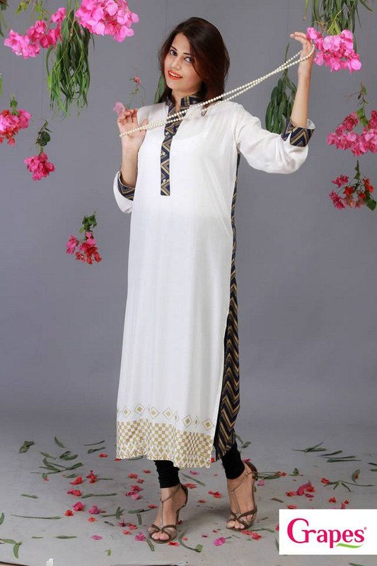 Grapes The Brand Digital Prints Kurta Collection 2013 For Women 004