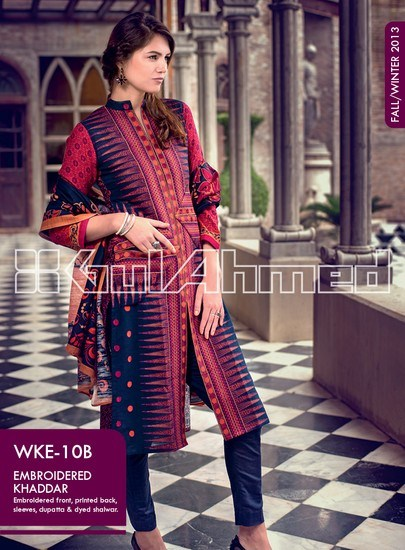 Gul Ahmed Khaddar Winter Collection 2013 For Ladies 001
