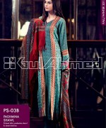 Gul Ahmed Pashmina Shawl Collection 2013 For Women 002