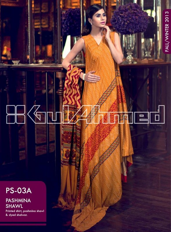 Gul Ahmed Pashmina Shawl Collection 2013 For Women 008