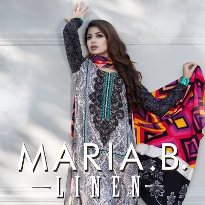 Maria B Linen Dresses 2013 for Women