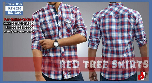 Red Tree Winter Shirts 2013 For Men