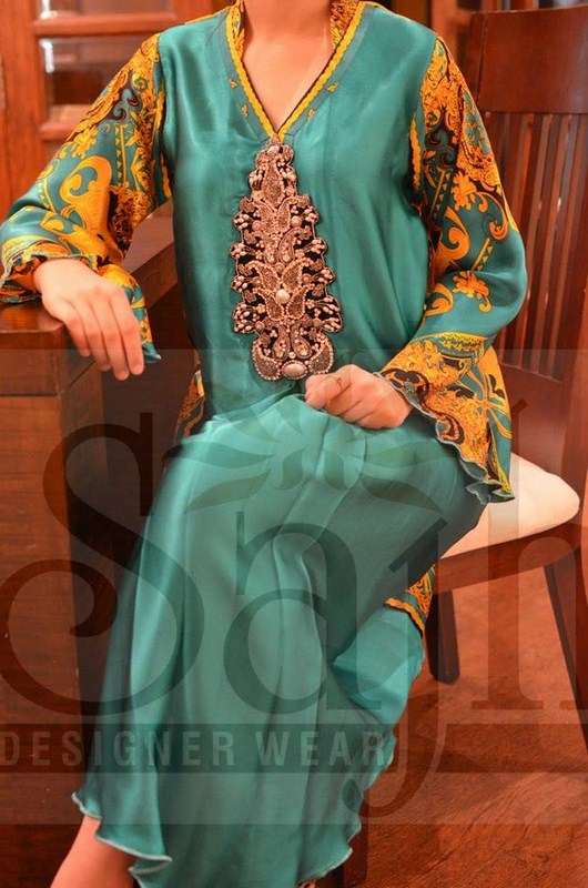 Sajh Eid Ul Azha Collection 2013 For Women 005