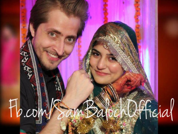 Sanam Baloch with Husband Abdullah Farhatullah
