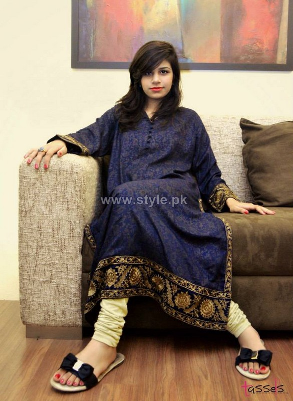 Tassels Winter Eid Dresses 2013 For Girls2