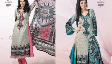 Al Hamra Textiles Khaddar Dresses 2013-2014 For Women 0013