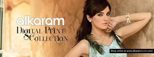 Al karam Textiles Digital Prints for Winter 2013