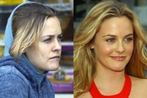 Alicia Silverstone With&without makeup