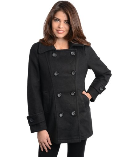 Black Coat For Girls Winter 2013 2014 style exclusives new fashion fashion trends buy online