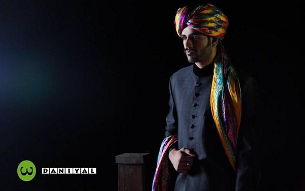 Daniyal Sherwani Designs 2013-2014 For Men 001