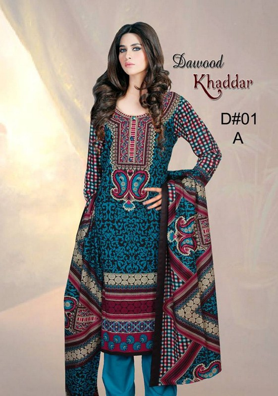 Dawood Textiles Khaddar Dresses 2013 For Women 006