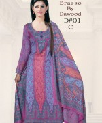 Dawood Textiles Winter Dresses 2013 For Women 001