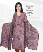 Dawood Textiles Winter Dresses 2013 For Women 003