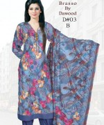 Dawood Textiles Winter Dresses 2013 For Women 009