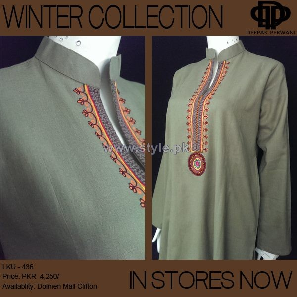 Deepak Perwani Winter Dresses 2013-2014 For Girls 5