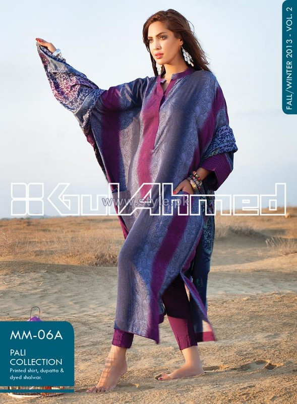 Gul Ahmed Winter Pali Collection 2013-2014 For Girls 1