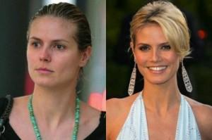 Heidi Klum With&without makeup