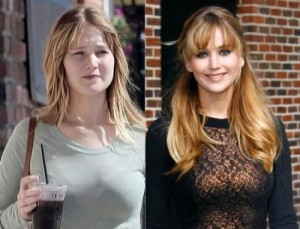 Jennifer Lawrence With&without makeup