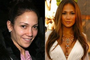 Jennifer Lopez With&without makeup