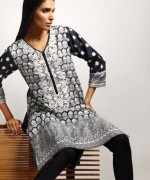 Khaadi Black and White Dresses 2013-2014 for Women 002