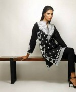 Khaadi Black and White Dresses 2013-2014 for Women 003