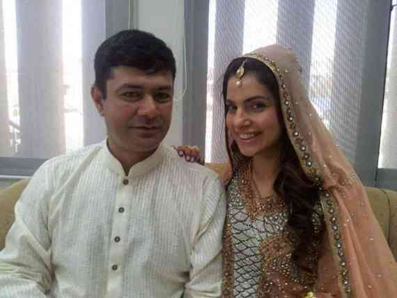 Kiran Khan with Husband
