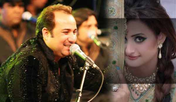 Rahat Fateh Ali Khan And Model Falak.