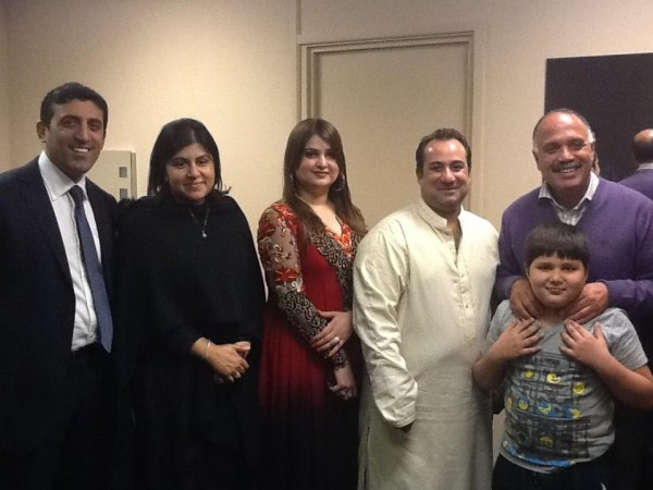 Rahat Fateh Ali Khan With Family And Friends.