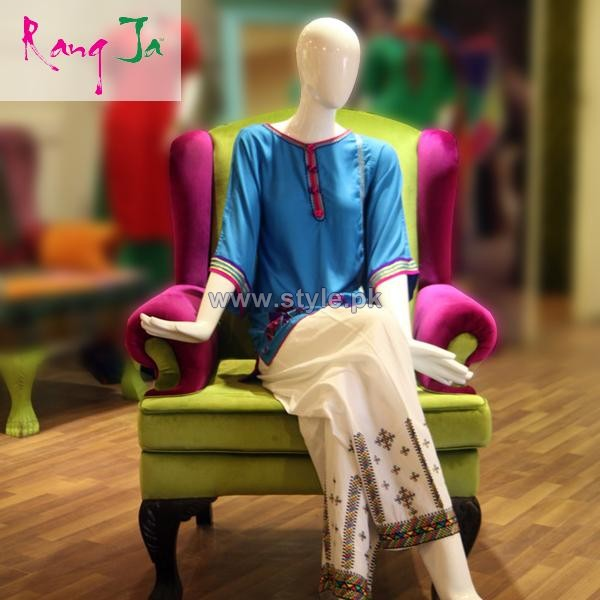 Rang Ja Winter Dresses 2013 For Girls 2