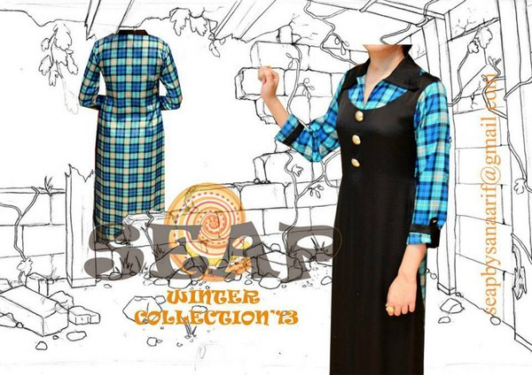 Seap By Sanaa Arif Winter Dresses 2013 For Women 0013