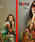 Shariq Textiles Digital Print Shirts 2013 Volume 2 For Girls 2