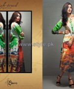 Shariq Textiles Digital Print Shirts 2013 Volume 2 For Women 7