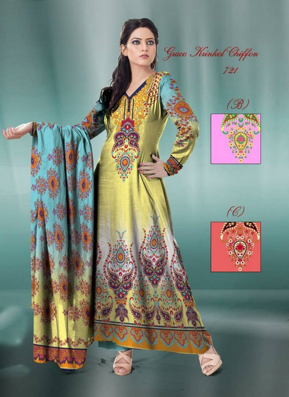 Al Hamra Textiles Chiffon Dresses 2013-2014 For Women 005