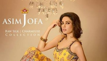 Asim Jofa Raw Silk Dresses 2013-2014 for Women